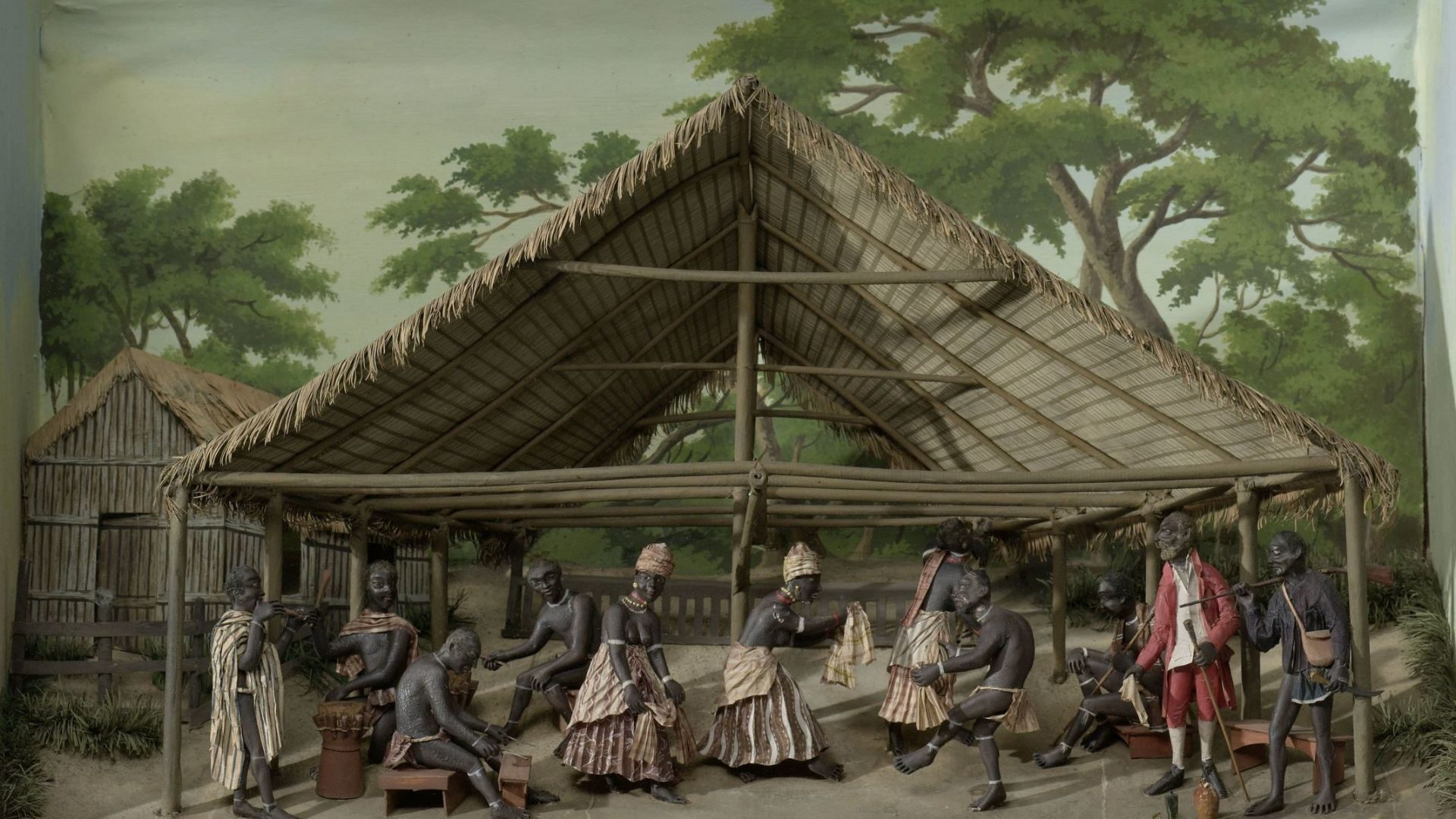 Diorama of a Du, Dance Celebration on the Plantation